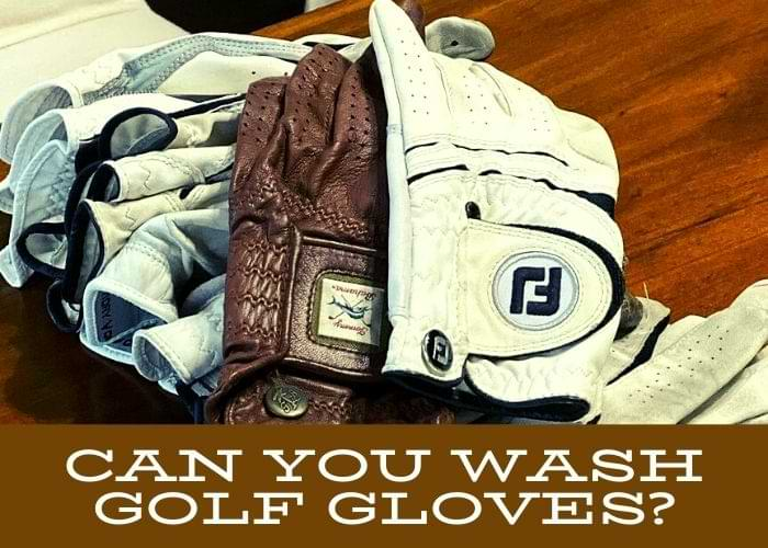 Can you wash golf gloves